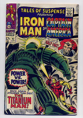 Tales of Suspense #93 VG/F 1967 ~ Iron Man Captain America Marvel Stan Lee Kirby