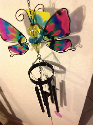 Ancient Graffiti Metal /& Glass Butterfly Wall Hanging GC