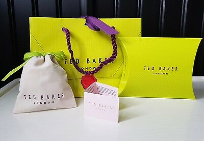 Ted Baker Jewellery packaging: Velvet Pouch, Pop Up box and gift bag