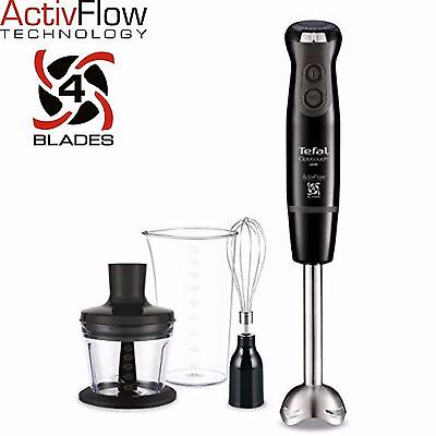 Tefal Optitouch Turbo Hand Blender Chopper Whisk Beaker HB833840 600W 16 Speed