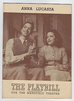 "1944? Playbill ""Anna Lucasta"" The Mansfield Theatre"