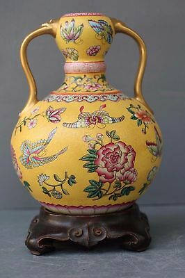 Chinese Enemal Vase/chien' Long Mark