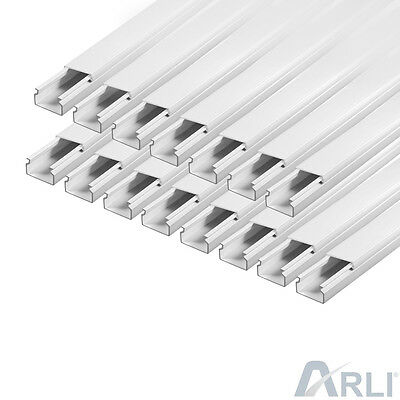 Cable Channel 15 x 10 mm PVC 98.4 ft Tray installationskanal Electric Canal