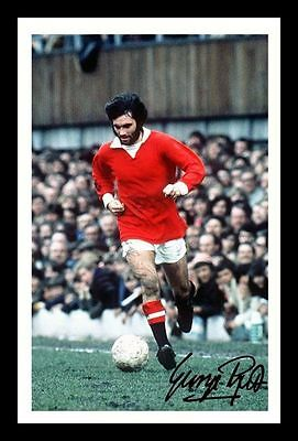 GEORGE BEST AUTOGRAPHED SIGNED /& FRAMED PP POSTER PHOTO