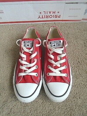 Women's Converse All Star,red canvas fashion sneakers size 6,men 4