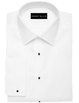Perry Ellis Tuxedo Shirt- 100% Cotton, Available in sizes 17.5-32/33,17.5-34/35