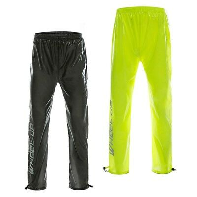 Unisex Adult Anti-Wrinkle Windproof Bike Cycling Rain Suit Waterproof Pants