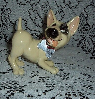 Billy The Stafford Shire Bull Little Paws Dog Figurine Arora Uk Bone Tag New