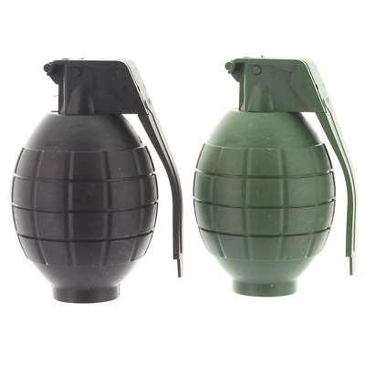 2 x KIDS CHILDRENS TOY HAND GRENADE BATTERY OPERATED SOUND  LIGHT GREEN BLACK