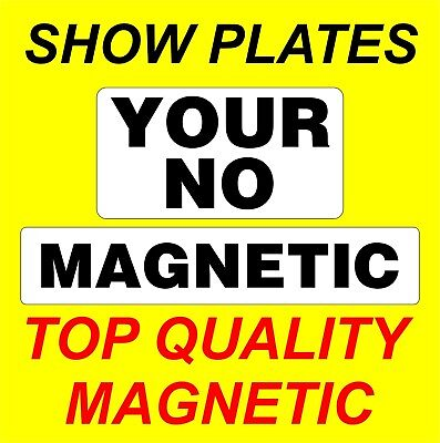 Magnetic Trade Show Plates Commercial Garage Dealer Car Transporter Breakdown