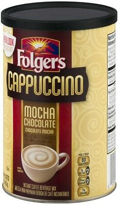Folgers Mocha Chocolate Cappuccino Coffee Mix, 16 Oz