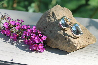 Vintage Monet Pair of Earrings Estate Find Jewelry Silver in Color