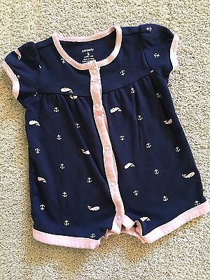 GUC!!  Carter's ~ Baby Girl Snap-up Romper Jumper ~ Size 3 Months