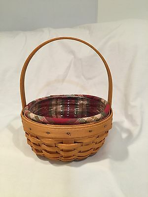 Longaberger 2001 Edition Small Easter Basket Fabric and Plastic Liner