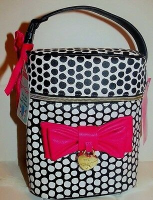 Betsey Johnson Bag~Quilted Baby Bottle Holder Insulated Lunch Tote~Large Bow~NWT