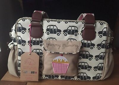 Pink Lining Yummy Mummy Baby Changing Bag(Black Cabs Design) +Accessories & Mat