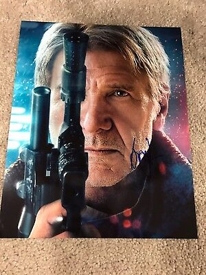 Harrison Ford Han Solo Star Wars Autographed 8x10 Photo Signed W/COA