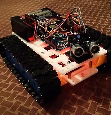 Arduino Intelligent Obstacle Avoiding/Scanning Bot 4 motors