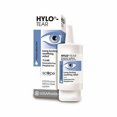 Hylo-Tear Eye Drops, Preservative Free, Safe for use with all contact lenses