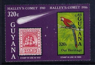 Guyana MNH Souvenir sheet , Halley's Comet 1986 ,NOT Issued