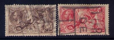 Great Britain Stamps KGV Seahorse Sc# 179-180 Used CV:$145
