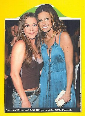 Gretchen Wilson & Faith Hill, Country Music Stars in 2005 Magazine Clipping