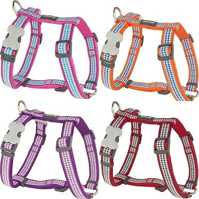 Red Dingo Stylish Dogtooth Design Harness for Dog / Puppy | XS - LG | FREE P&P