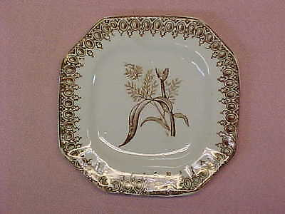 "Antique Brown Transferware Butter Pat 3 1/4"" Wide  #91"