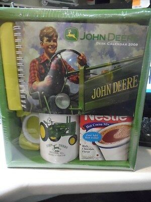 John Deere Model A Tractor Moline IL Coffee Cup, Hot Cocoa and 2009 Calendar NEW