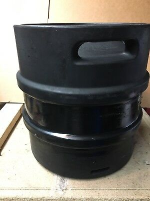 - 7.93 GALLON  30L STAINLESS STEEL EMPTY BEER KEG Rubber Covered Quarter Barrel