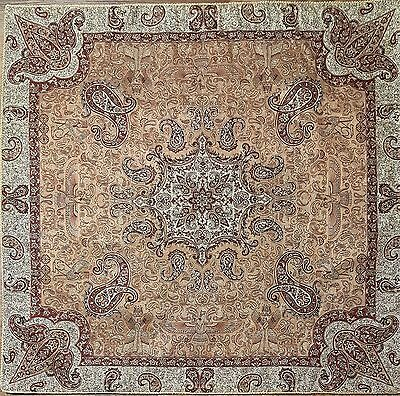 Persian Rug Design Silk Woven Tablecloth, Wall hanging (Ariana)
