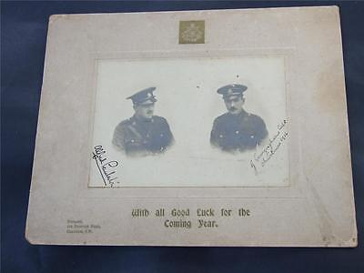 WWI South Africa 23rd The London Regiment Christmas Card Photo Signed C.1914