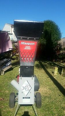 honda powered chipper mulcher masport