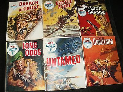 Picture Library War Comics 6 Early Issues 215-346