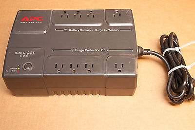 APC Back-UPS ES-500 BE500R UPS - Fully Functional w/o Battery