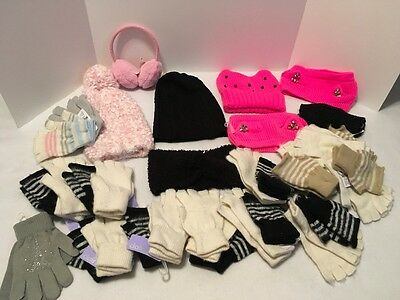 Lot #2 Winter Accessories Claire's 25 Pair Gloves + 8 Other Items NWT  $250+