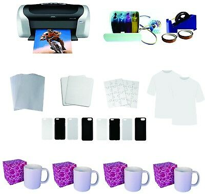 USED  Epson Printer C88 CISSand sublimation material KIT