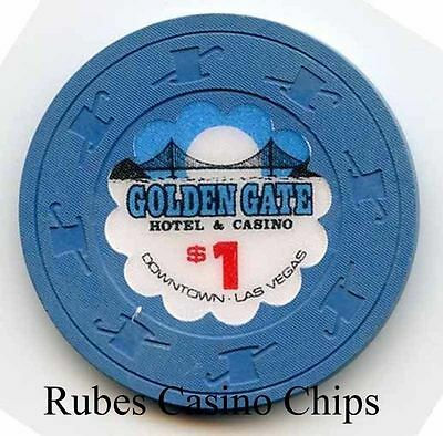 1.00 Chip from the Golden Gate Casino in Las Vegas Nevada H&C