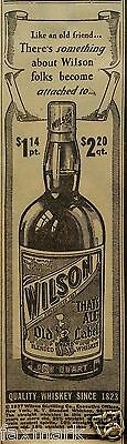 """""""Wilson """"That's All"""" Old Label Blended Whiskey 1937 Newspaper Ad..."""