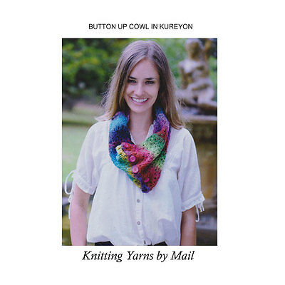 Noro Cowl Knitting Kit- Make Your Own Wool Scarf/Neckscarf - pattern, yarn- gift