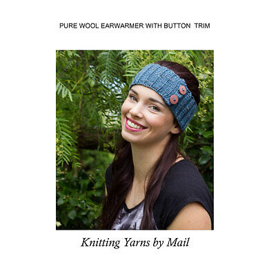 Knitting Kit: Make Your Own Pure Wool Earwarmer/Headband - yarn, pattern - gift