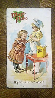 Mapl-Flake The Steam Cooked Food Battle Creek Michigan    Victorian Trade Card