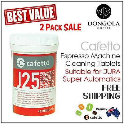 2PK JURA 40x J25 Espresso Coffee Machine Cleaning Tablets Cleaner by Cafetto
