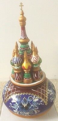 NEW Hand Painted Russian Wooden Music Box