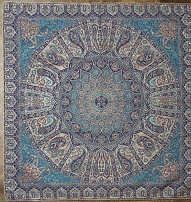 Persian Rug Design Silk Woven Tablecloth, Wall hanging (Paradise)