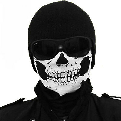 Stylish Tubular Skull Motorcycle Scarf Neck Face Mask Ski Biker Headband G5
