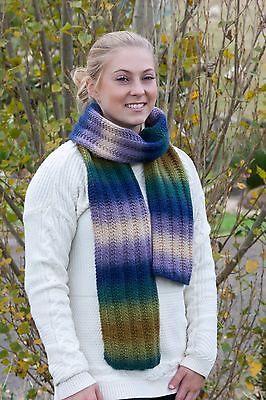 Knitting Kit: Pure Wool Scarf - Knitting Yarn, Knitting Pattern  *no acrylic