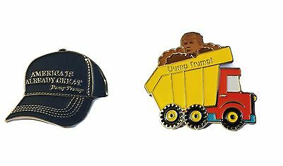 Anti Donald Trump Pins Dump Impeach President Political Presidential Not My