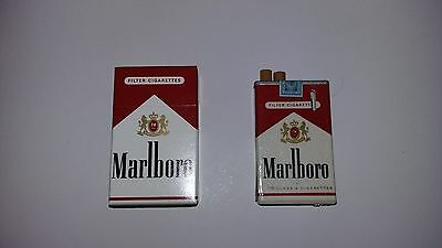 Marlboro butane Lighter  w / matching pack of matches VINTAGE 1980's /90's RARE