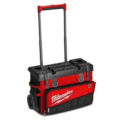 "Milwaukee 48228220 24""hard Top Rolling Tool Bag With Wheels 48-22-8220 Brand New"